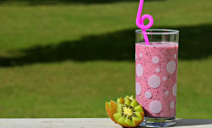Summer smoothie on the table