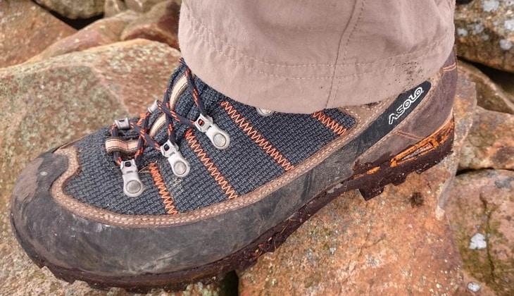 Close-up photo of a hiking botts