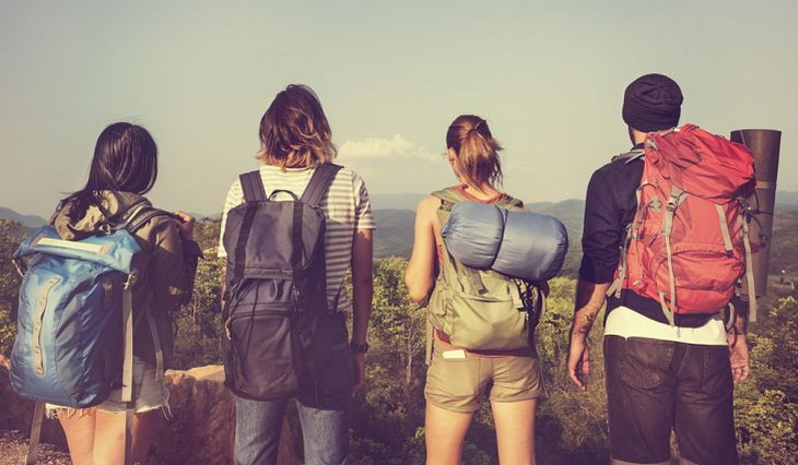 backpacking with a group