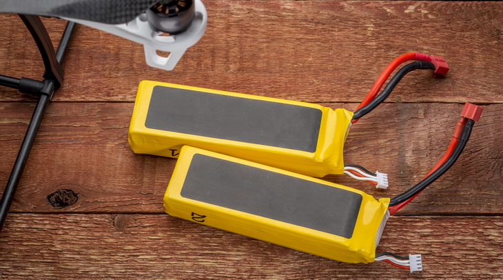 LiPo Battery and a Drone