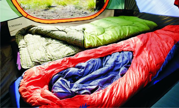 sleeping-bags-in-tent