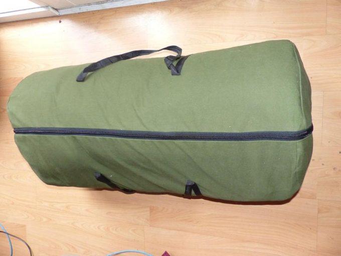 slumberjack country squire bag packed in bag