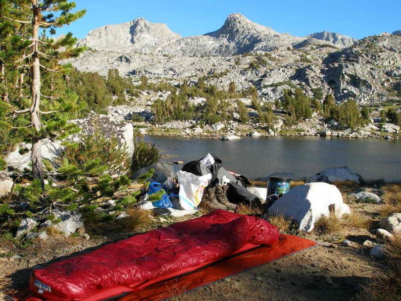 sleeping bag in nature