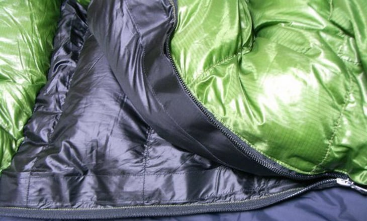 Close up of Western Mountaineering Puma Gore WS Sleeping Bag