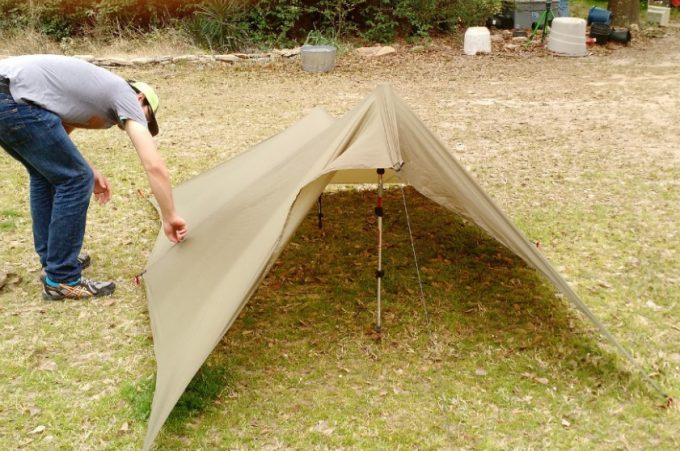 This shelter will be 2.5 feet tall and 8.6 feet wide. It offers an excellent snow and rain runoff as well as a perfect deflection of the wind. & DIY Tarp Tent: Various Tent Types and Guide How to Make Them