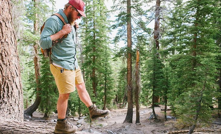 Man wearing the Zamberlan 960 Hiking Boots