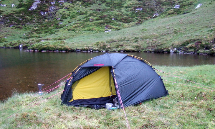 the best night's sleep for a long time and the tent felt nice and warm in the rising sun.