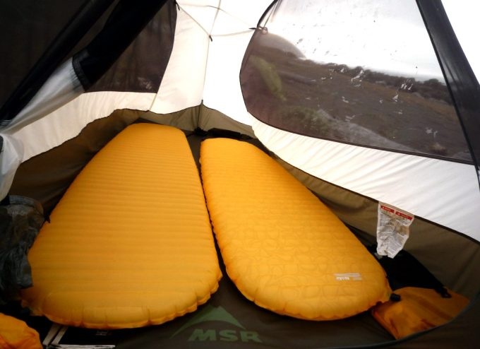 thermarest neoair xlite in a tent