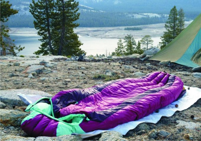 violet-sleeping-bag