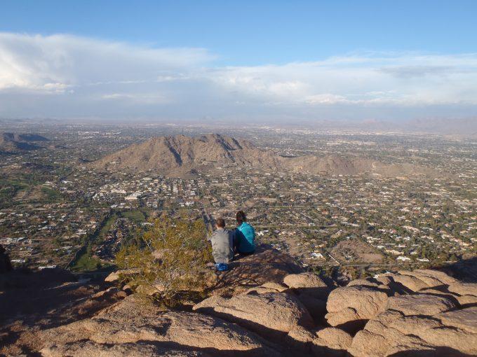 hikers on tom thumb trail