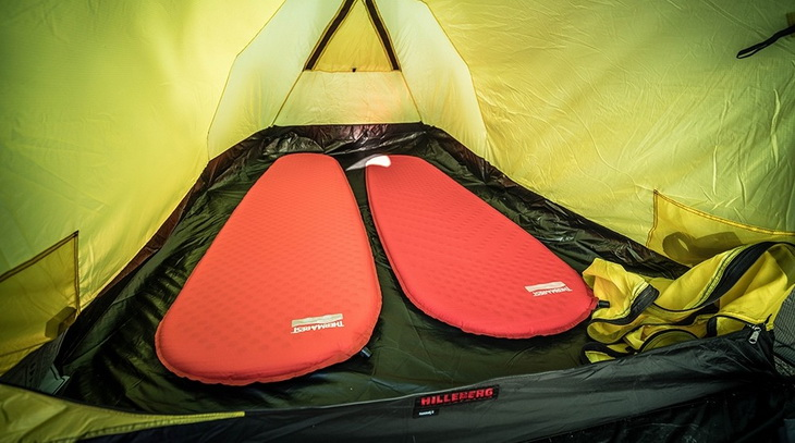 Two Therm-a-Rest ProLite Mattress in a tent