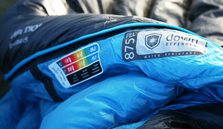 Temperature rating of a sleeping bag