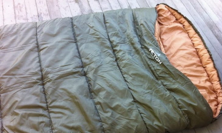 TETON-Sports-Sleeping-Bag on the Ground