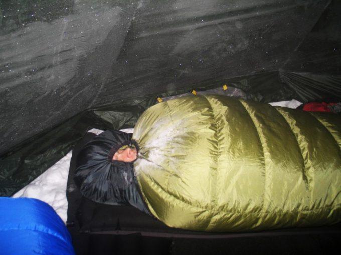 man sleeping in lynx gws