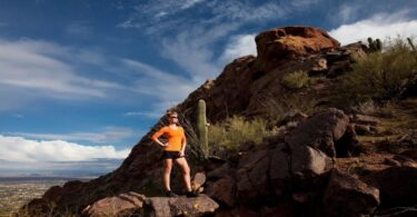A girl on cholla trail in phoenix