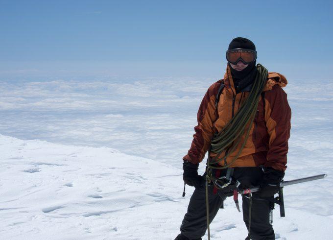 An alpinist on Everest