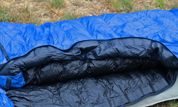 Side view of Western Mountaineering Ultralite Mummy Sleeping Bag