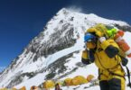 hiker on mount Everest with oxygen
