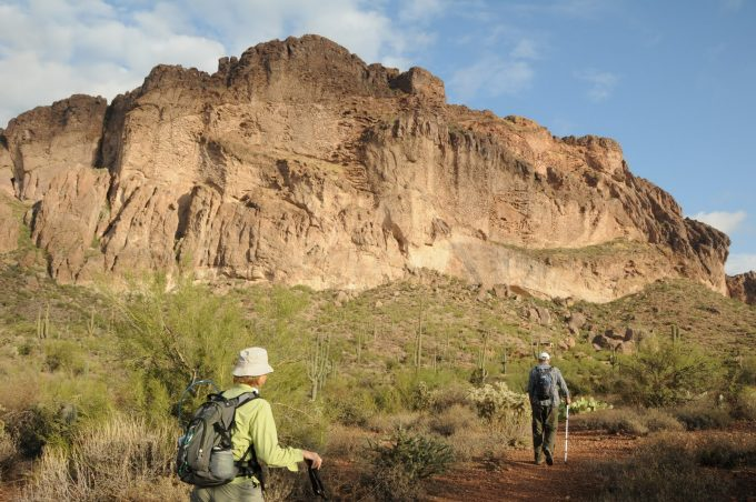 hikers on lost goldmine trail