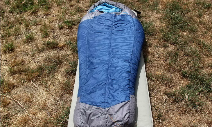 The North Face Cat's Meow Sleeping Bag on the ground