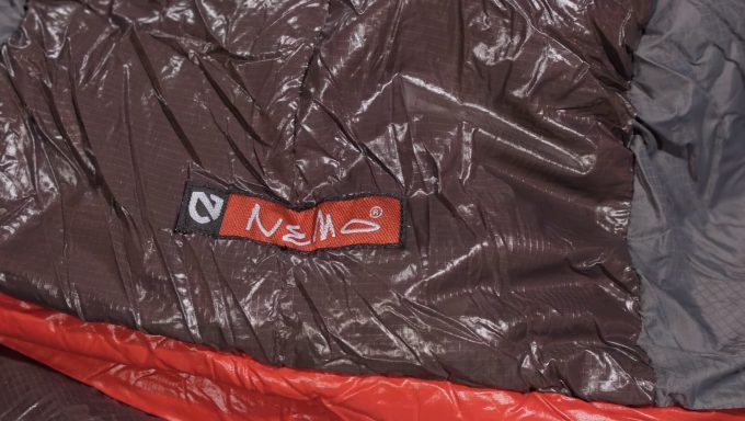 Close-up image of the Nemo Nocturne Sleeping Bag