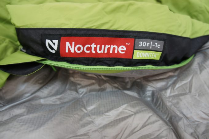 Image showing the temperature rating of Nemo Nocturne Sleeping Bag