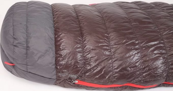 Image showing the footbox of the Nemo Nocturne Sleeping Bag