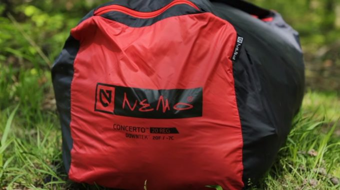 Image showing the NEMO Concerto Sleeping Bag packed