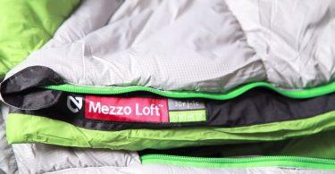 Very close-up image of Nemo Mezzo Loft Duo Synthetic Sleeping Bag