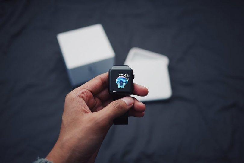 A newly unpacked smartwatch