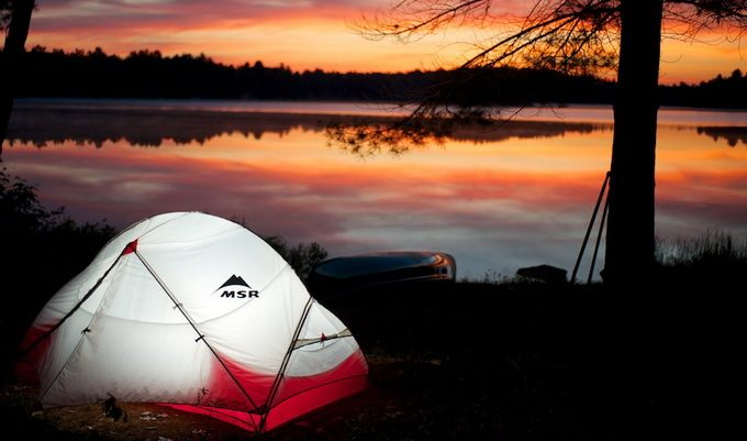 Image of MSR Hubba Hubba NX 2-Person Tent at the sunset