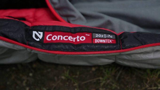 Close-up image of NEMO Concerto Sleeping Bag