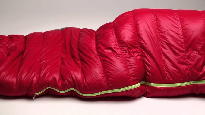 Image showing a Nemo Fusion Hybrid Sleeping Bag on a table