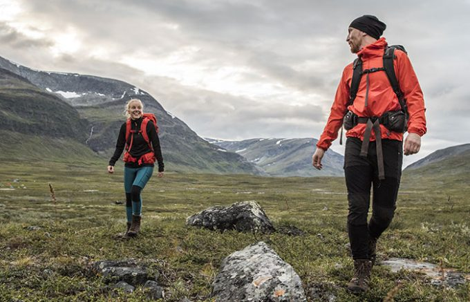 Image showing a couple hiking on the moutains