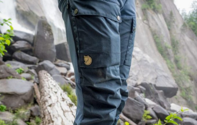 Image showing a man wearing a pair of winter hiking pants