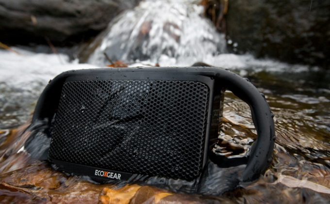 The EcoXBT is totally waterproof, making the rugged wireless Bluetooth speaker ideal for rocking to your tunes outside -- at the beach, by the pool, on the river, in the rain, wherever.