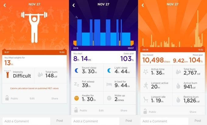 An image showing the Up by Jawbone app
