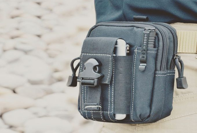 Mobile phone case attached to a tactical belt