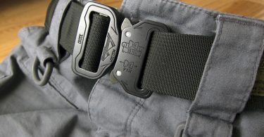 Image showing the bushido-tactical-belt attached to a pair of pants