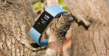Image showing fitbit-charge-2 fitness watch hanging in a tree