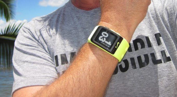 Image showing a man wearing a fitness watch