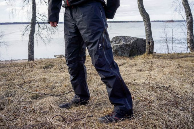 hiking pants in winter