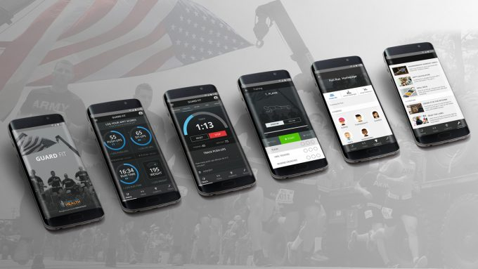 fitness apps on several phones