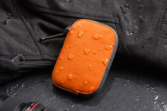 waterproof wallet in storm