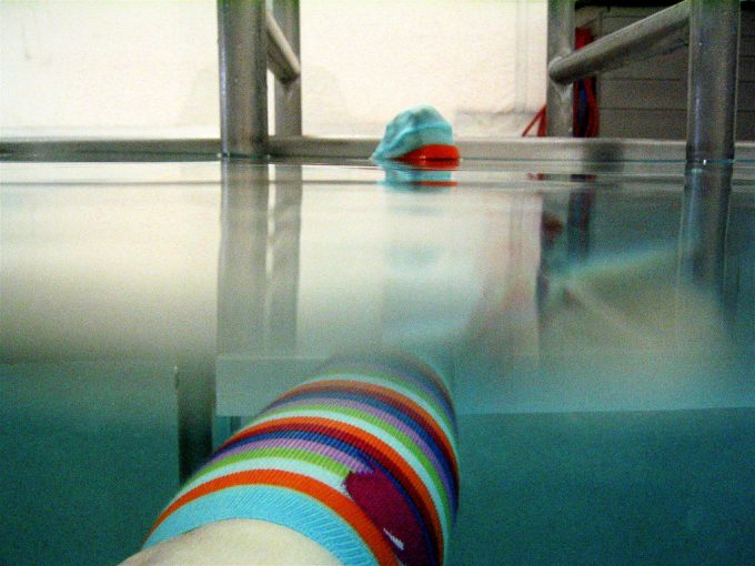 swimming with waterproof socks