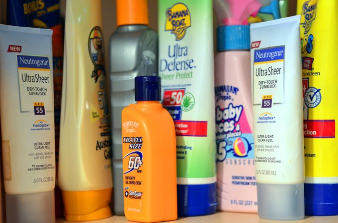 different types of sunscreen creams