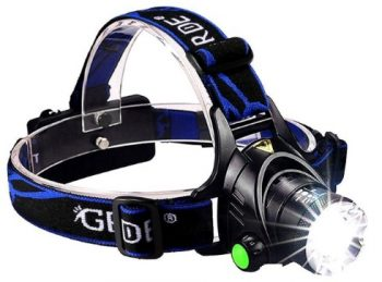 GRDE Zoomable Super Bright LED Headlamp