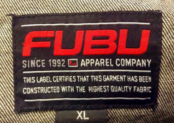fubu hiking jacket label