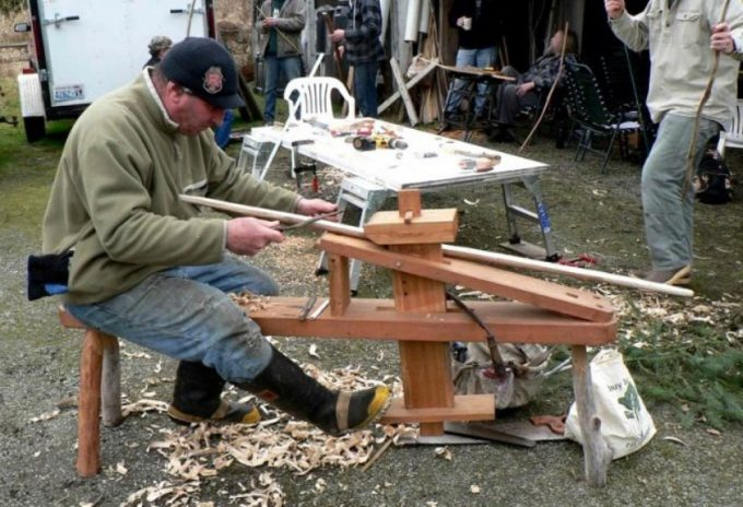 making a hunting bow