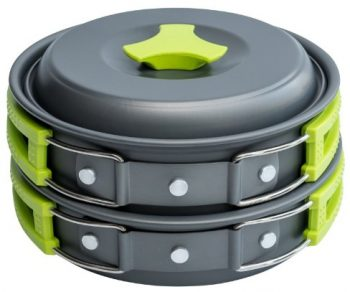 MalloMe 10-Piece Camping Cookware Mess Kit